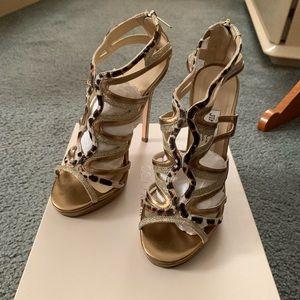 Jimmy Choo Mercury PPM leopard heels